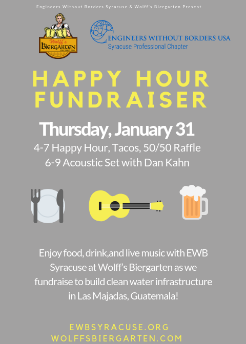 wolfs bier garten happy hour fundraiser