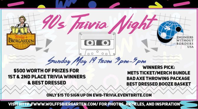 Trivia Fundraiser – Sunday May 19 – 3-5PM