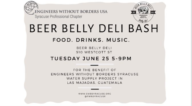 2nd Annual Beer Belly Deli Fundraiser – June 25 – 5-9 PM